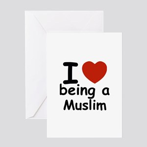 i love being a muslim Greeting Card
