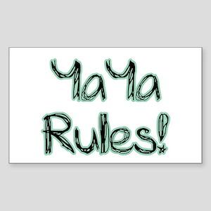 YaYa Rules! Rectangle Sticker