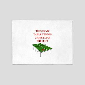 table tennis 5'x7'Area Rug