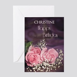 Add a name, Happy birthday with roses Greeting Car