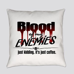 Coffee Blood Everyday Pillow