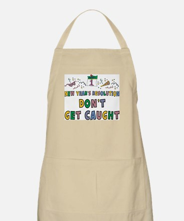 Funny New Year's Resolution BBQ Apron