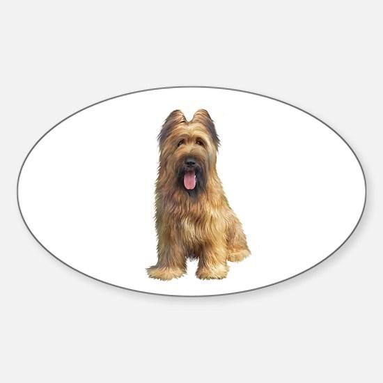 Briard A Sticker (Oval)