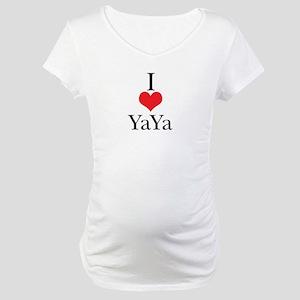 I Love (Heart) YaYa Maternity T-Shirt