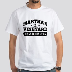 Martha's Vineyard Massachusetts White T-Shirt