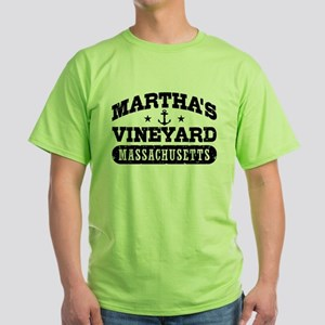 Martha's Vineyard Massachusetts Green T-Shirt