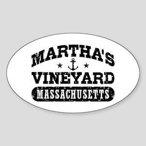 Martha's Vineyard Massachusetts Sticker (Oval)