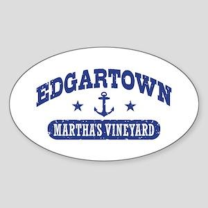 Edgartown Martha's Vineyard Sticker (Oval)