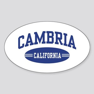 Cambria California Sticker (Oval)