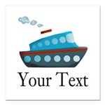Personalizable Cruise Ship Square Car Magnet 3