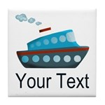 Personalizable Cruise Ship Tile Coaster