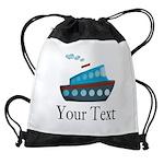 Personalizable Cruise Ship Drawstring Bag