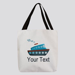 Personalizable Cruise Ship Polyester Tote Bag