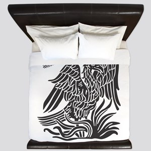 Phoenix Bird Tribal Tattoo King Duvet