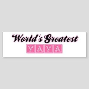 World's Greatest Yaya (1) Bumper Sticker