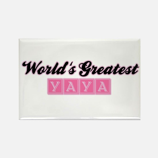 World's Greatest Yaya (1) Rectangle Magnet