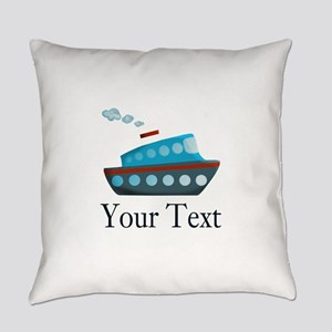 Personalizable Cruise Ship Everyday Pillow