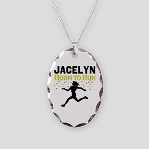 TRACK AND FIELD Necklace Oval Charm