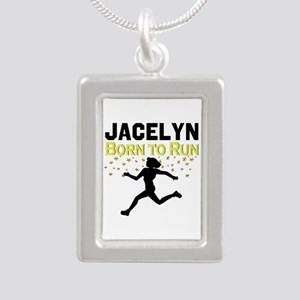 TRACK AND FIELD Silver Portrait Necklace