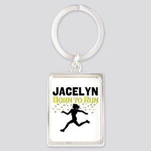 TRACK AND FIELD Portrait Keychain