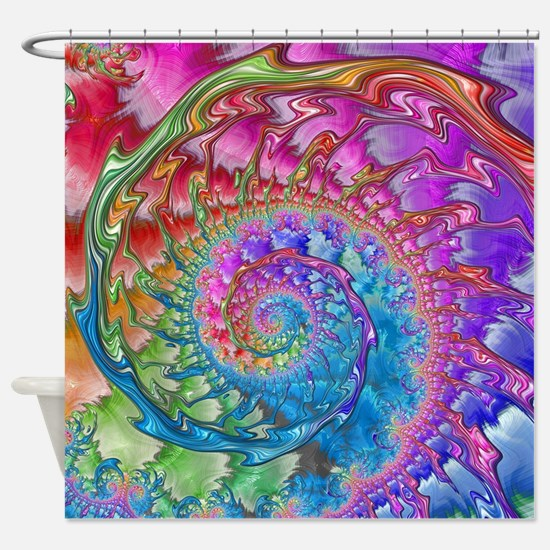 Funny Cool fractal art Shower Curtain