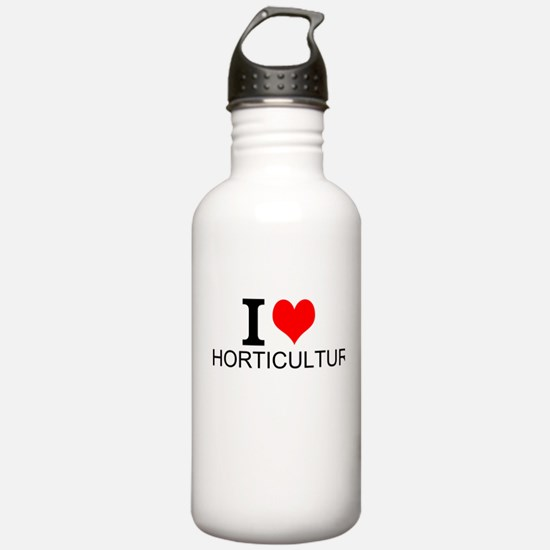 I Love Horticulture Water Bottle
