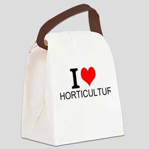 I Love Horticulture Canvas Lunch Bag