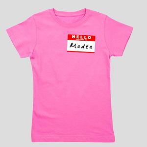 Madea, Name Tag Sticker T-Shirt