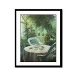 Tea in the Greenhouse Framed Panel Print
