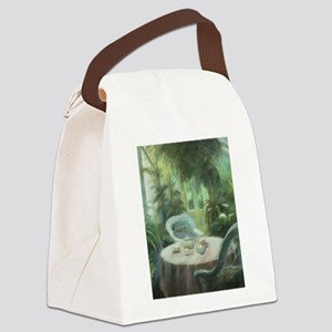 Tea in the Greenhouse Canvas Lunch Bag