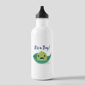 Little Man Mustache Ba Stainless Water Bottle 1.0L