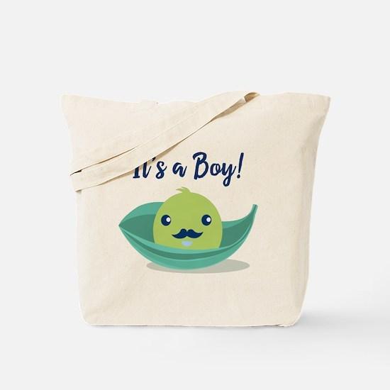 Little Man Mustache Baby Shower Tote Bag