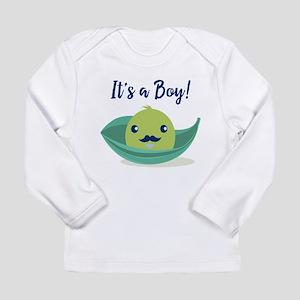 Little Man Mustache Bab Long Sleeve Infant T-Shirt