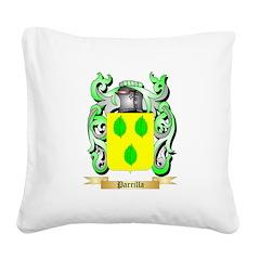 Parrilla Square Canvas Pillow