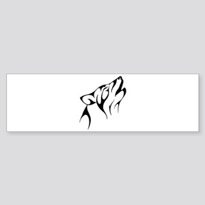Tribal Wolf Tattoo Dog Bumper Sticker
