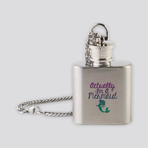 Actually, I'm A Mermaid Flask Necklace