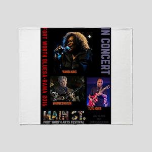2016 Blues-A-Rama #1 Throw Blanket