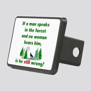 If A Man Speaks In The Rectangular Hitch Cover