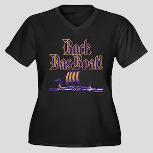 Goth Rock II Women's Plus Size V-Neck Dark T-Shirt
