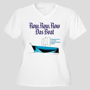 Row, Row, Row Women's Plus Size V-Neck T-Shirt