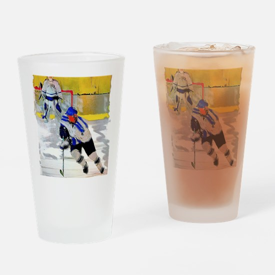 Unique Ice hockey Drinking Glass