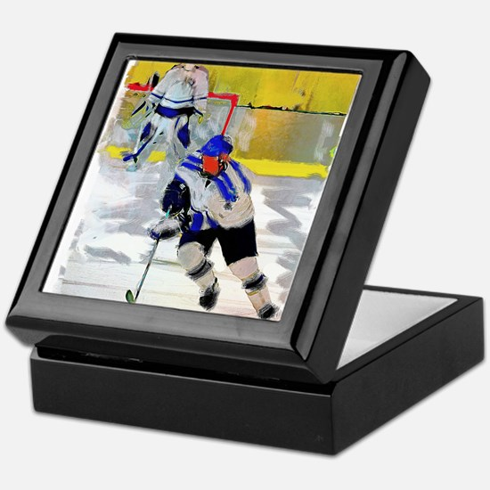 Hockey players Keepsake Box