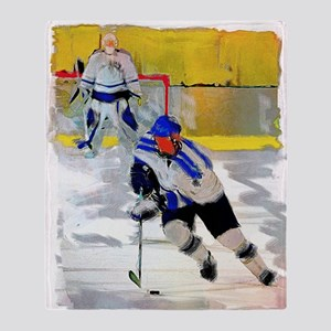 Hockey Players Throw Blanket