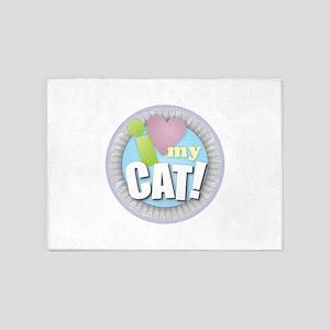 I Love My Cat 5'x7'Area Rug
