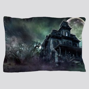 The Haunted House Pillow Case