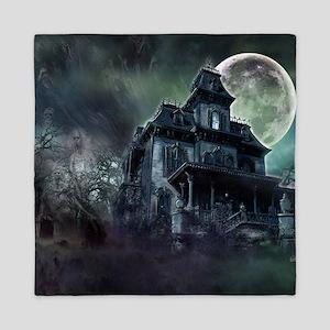 The Haunted House Queen Duvet