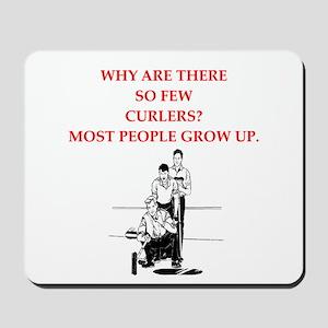 curling joke Mousepad