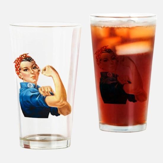 Cute Rosie riveter Drinking Glass