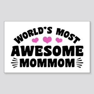 World's Most Awesome MomMom Sticker (Rectangle)