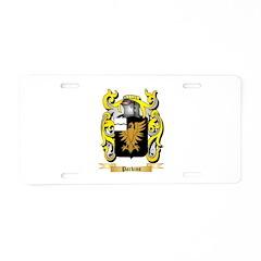 Parkins Aluminum License Plate